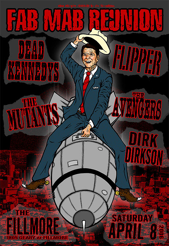 Dead Kennedys New Fillmore Poster F771