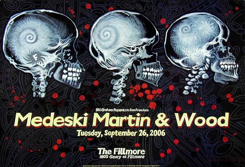 Medeski Martin and Wood New Fillmore F808 Poster