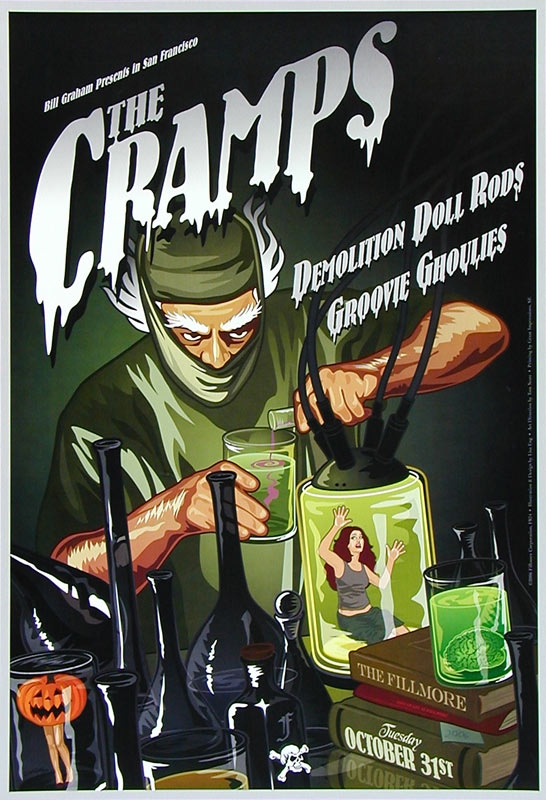 The Cramps New Fillmore F824 Poster
