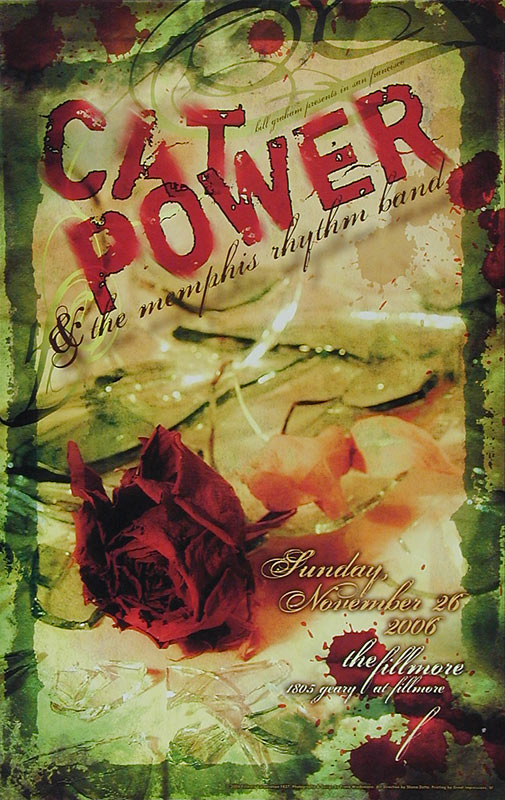 Cat Power and the Memphis Rhythm Band New Fillmore F827 Poster