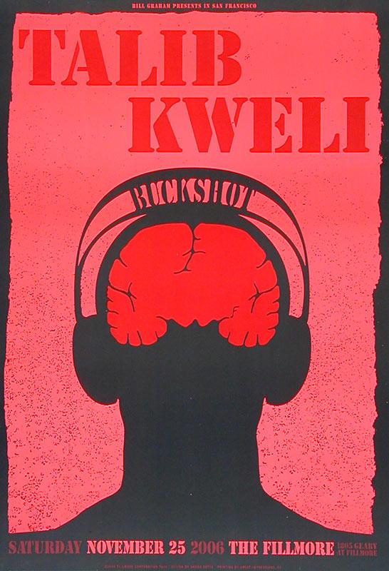Talib Kweli New Fillmore F830 Poster
