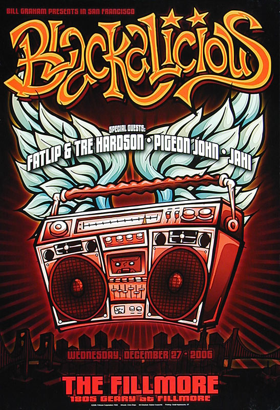 Blackalicious New Fillmore Poster F836