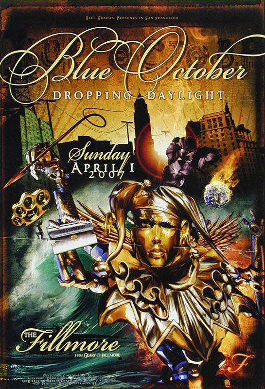 Blue October New Fillmore Poster F854