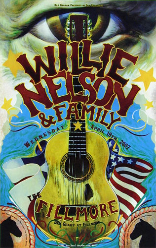 Willie Nelson and Family New Fillmore Poster F861