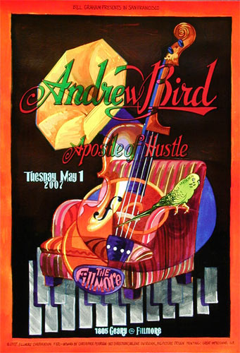 Andrew Bird New Fillmore Poster F870