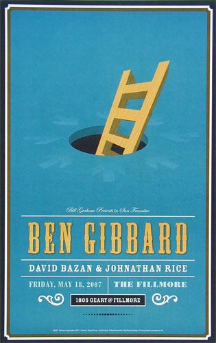 Ben Gibbard New Fillmore Poster F874
