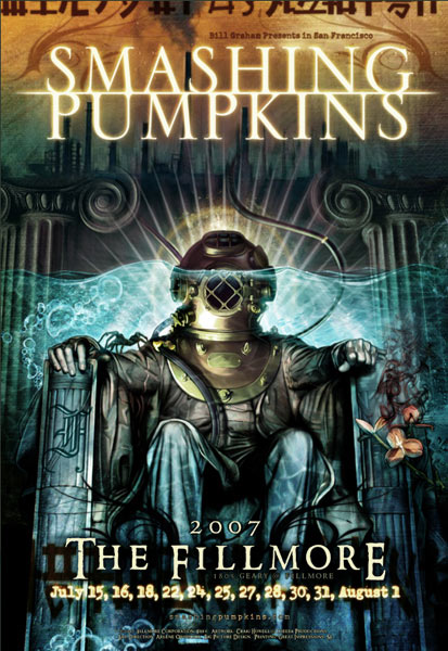 Smashing Pumpkins 2007 Fillmore F881 Poster