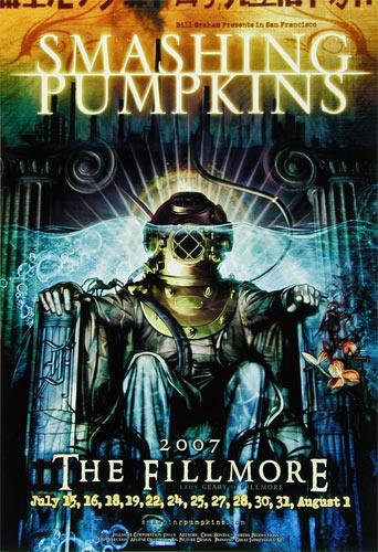 Smashing Pumpkins New Fillmore Poster F881B