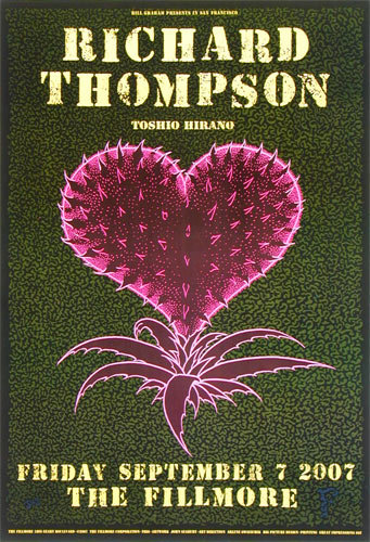 Richard Thompson New Fillmore Poster F886