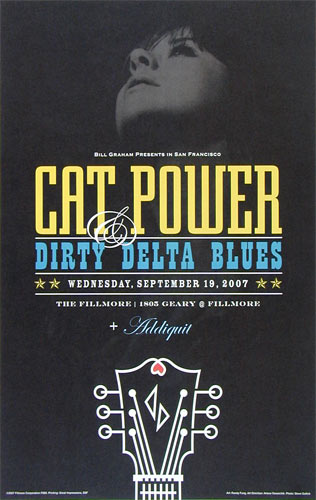 Cat Power New Fillmore Poster F889