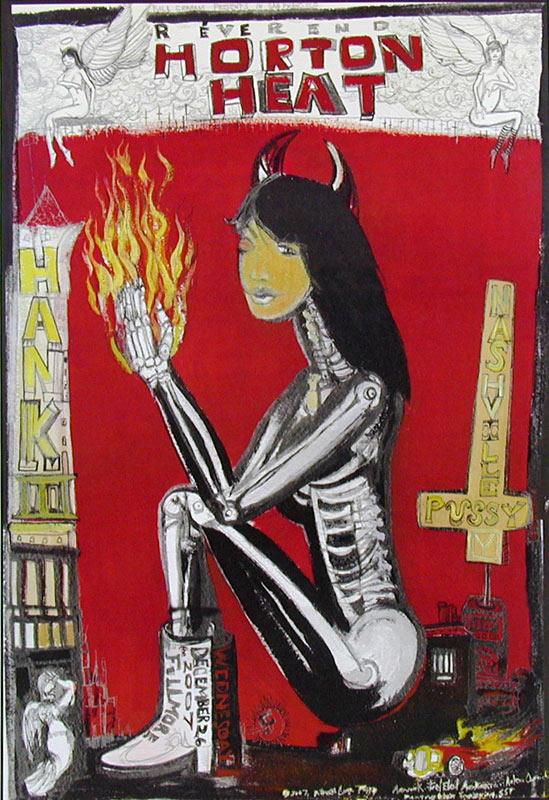 Reverend Horton Heat New Fillmore F910 Poster