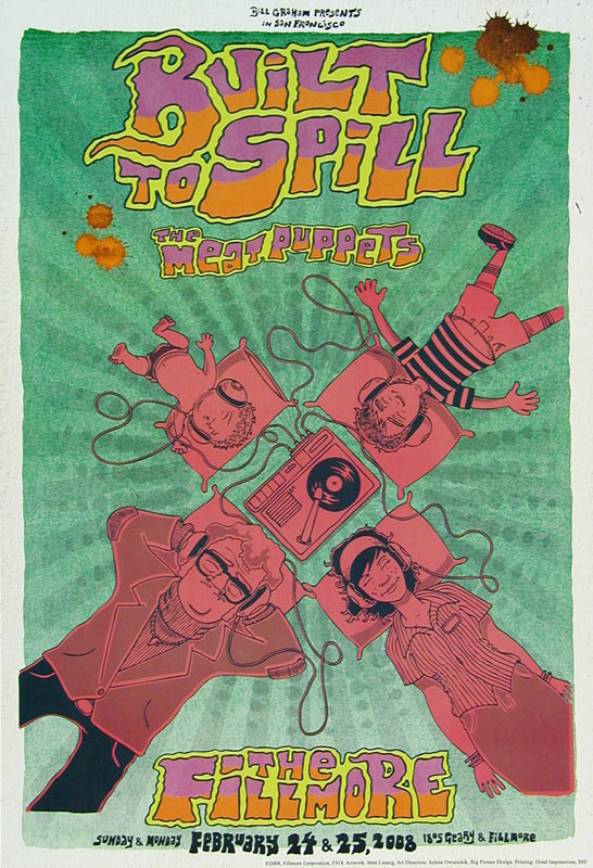 Built To Spill 2008 Fillmore F918 Poster