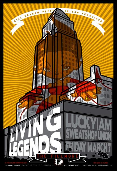Living Legends New Fillmore Poster F921