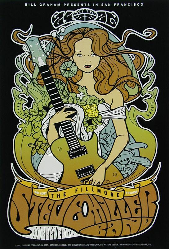 Steve Miller Band New Fillmore Poster F925