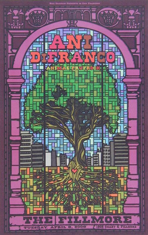 Ani DiFranco 2008 Fillmore F931 Poster