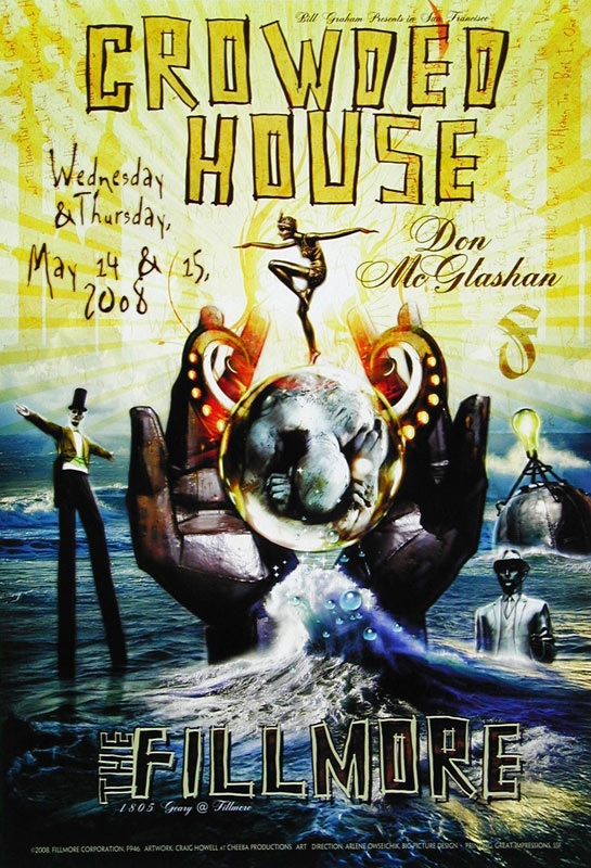 Crowded House New Fillmore Poster F946