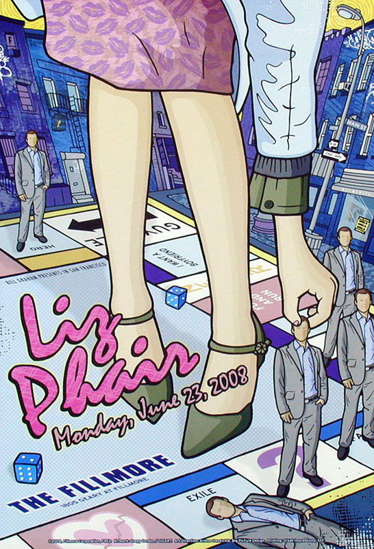 Liz Phair New Fillmore Poster F953