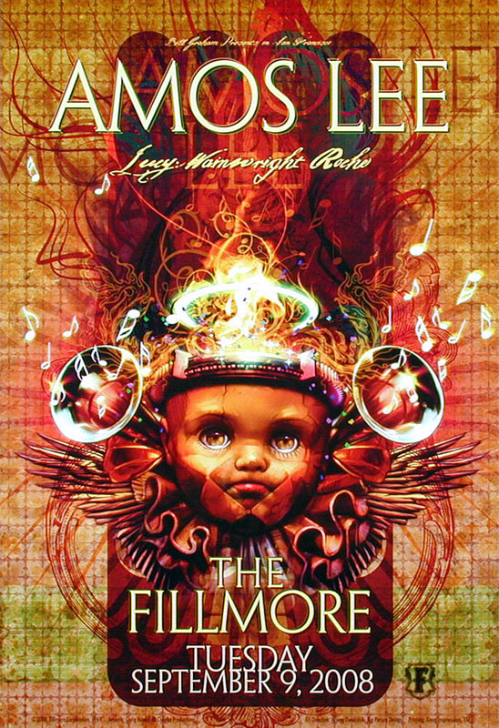 Amos Lee New Fillmore Poster F969