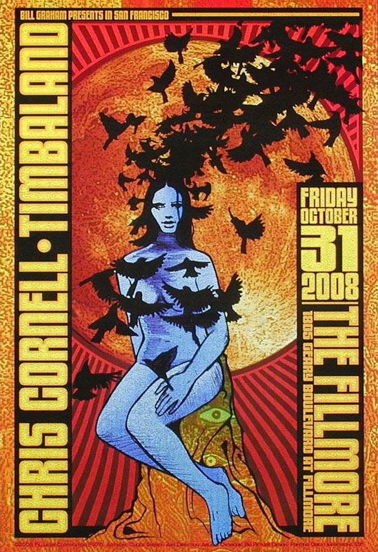Chris Cornell New Fillmore Poster F976