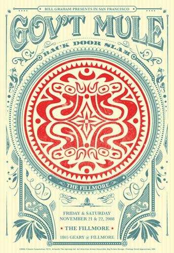 Gov't Mule New Fillmore Poster F979