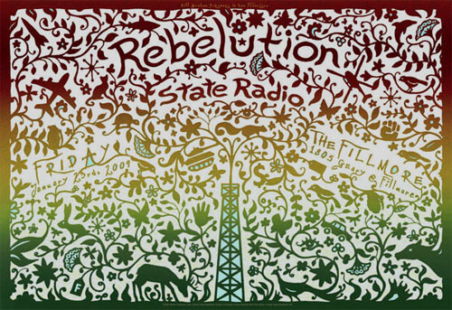 Rebelution New Fillmore Poster F987