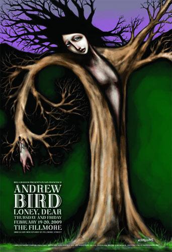 Andrew Bird New Fillmore Poster F993