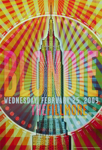 Blondie New Fillmore Poster F994