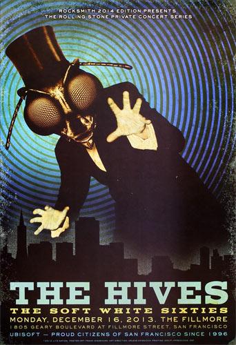 The Hives 2013 Fillmore LN_13_12_16 Poster