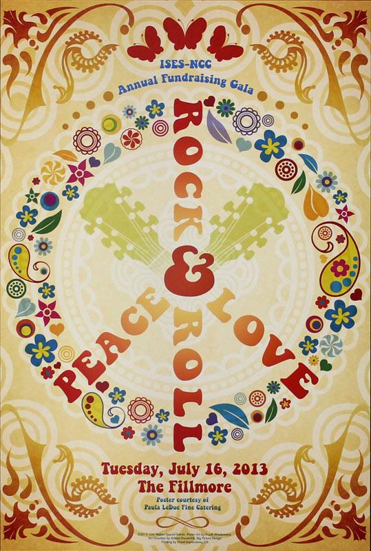2013 Fillmore LiveNation_PeaceLoveRock Poster