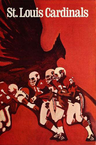 St. Louis Cardinals 1968 NFL Football Poster