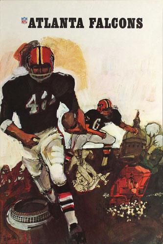 Terry Smith Atlanta Falcons 1967 NFL Football Poster
