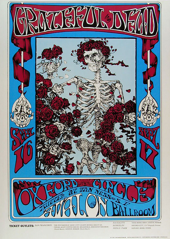 FD # 26-R Grateful Dead Family Dog Poster FD26