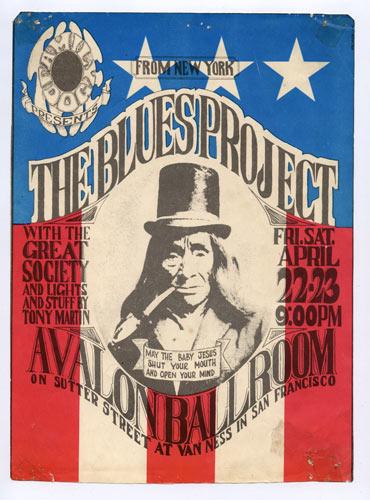 FD # 5-B Blues Project Family Dog handbill FD5