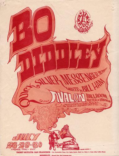 FD # 18-1 Bo Diddley Family Dog handbill FD18
