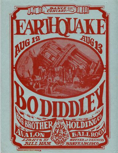 FD # 21-1 Bo Diddley Family Dog handbill FD21