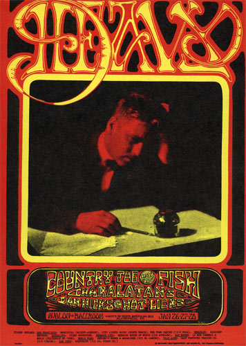 FD # 103 Country Joe and the Fish Family Dog postcard FD103