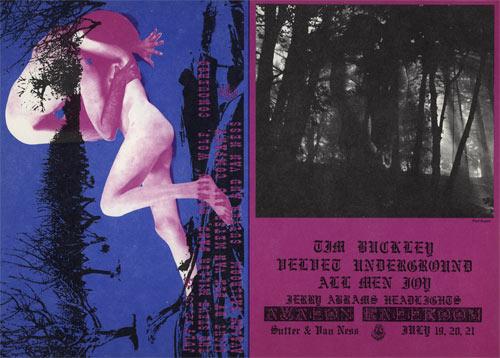 FD # 127/128 Velvet Underground Family Dog double postcard FD127/128