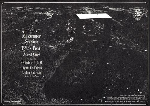 FD # 140 Quicksilver Messenger Service Family Dog postcard - stamp back FD140