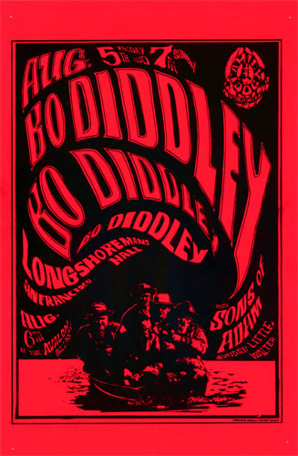 FD # 20-1 Bo Diddley Family Dog handbill FD20