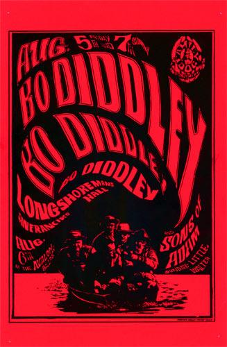 FD # 20-1 Bo Diddley Family Dog handbill FD20