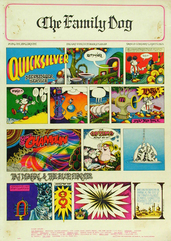 FD # 89-1 Quicksilver Messenger Service Family Dog Poster FD89