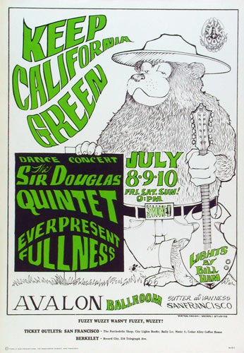 FD # 16-2 Sir Douglas Quintet Family Dog Poster FD16