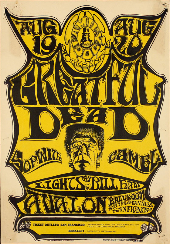 FD # 22-1 Grateful Dead Family Dog Poster FD22