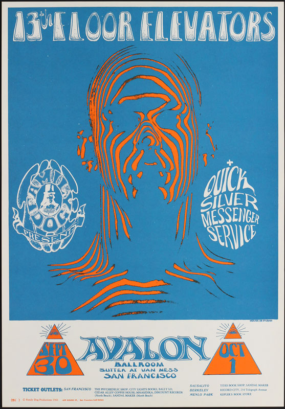 FD # 28-3 13th Floor Elevators Family Dog Poster FD28