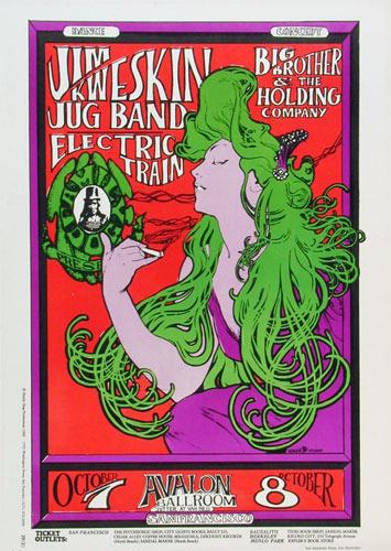 FD # 29-3 Jim Kweskin Jug Band Family Dog Poster FD29