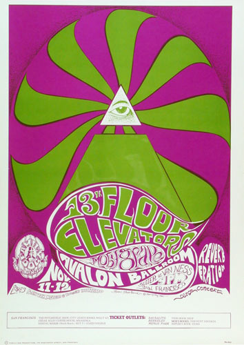 FD # 34-3 13th Floor Elevators Family Dog Poster FD34