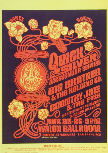 FD # 36-3 Quicksilver Messenger Service Family Dog Poster FD36