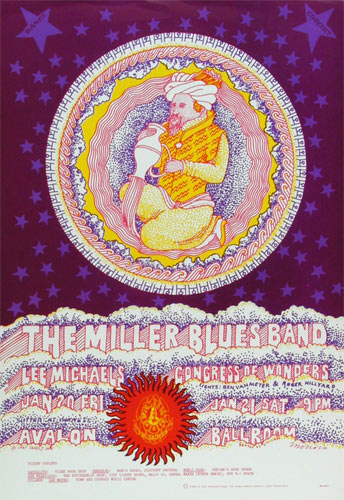 FD # 44-2 Miller Blues Band Family Dog Poster FD44