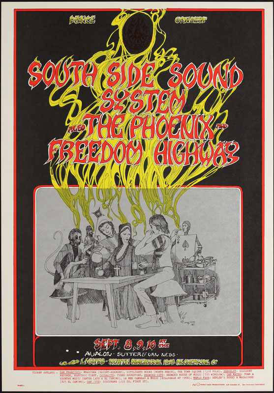FD # 80-1 South Side Sound System Family Dog Poster FD80