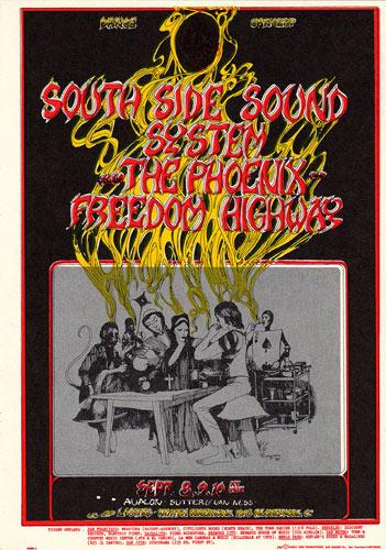 FD # 80 South Side Sound System Family Dog postcard - stamp back FD80